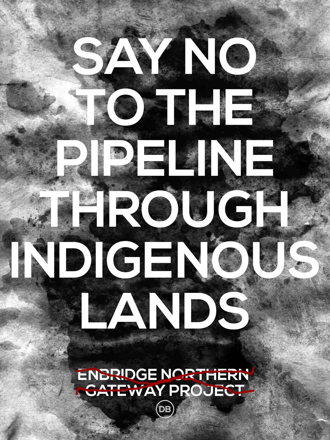 David Bernie No to Enbridge Indian Country 52 Week 51